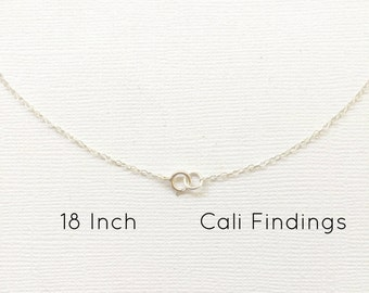 """Sterling Silver 18"""" Finished Flat Cable Chain Necklace, 1.3mm, 1Pc, Wholesale, Finished Necklace, Silver Chain, Bulk Chain, 18 inch [4014]"""