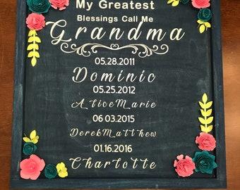 Grandma or mom frame, perfect for birthday