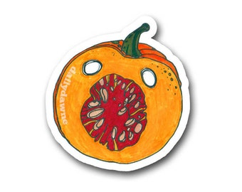 Screaming Pumpkin Sticker