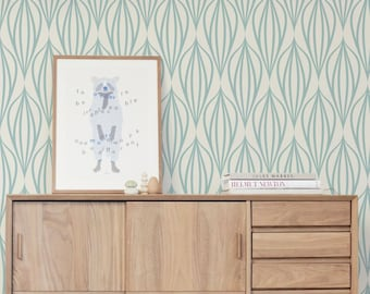 Geometric vintage removable wallpaper    Temporary Wallpaper    Wall Art    Wall covering    Repositionable Wallpaper  #147