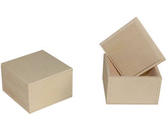 250 Personalised Wooden Boxes cm 7x7x4