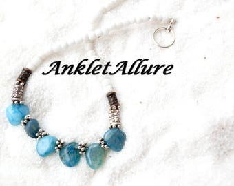 Anklet Ankle Bracelet Blue Ankle Bracelet Beach Proof Anklet GUARANTEED Anklets for Women Snaggle Rock Anklet