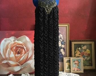 Goth dress, gothic dress, prom dress, black dress, little black dress, maxi dress, black and gold, gift for her, dress for prom, high collar
