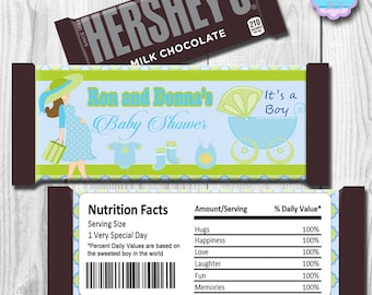 Baby Shower Candy Bar Wrapper, Hershey Bar Wrappers PRINTABLE