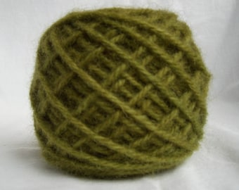 NEW! Dark Mustard Color #021 Wool Rug Yarn 100% Wool Ready To Use 3 Ply Thick 1/8 lb