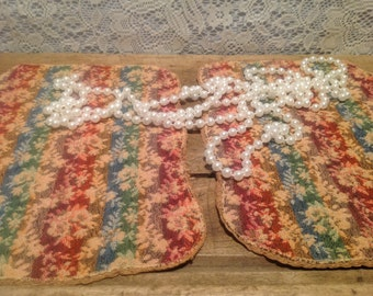 Vintage Tapestry Doilies set of two