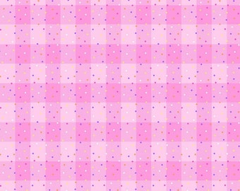 Comfy Flannel, Plaid Flannel, Funfetti- AE Nathan - 9706 22 Pink - Priced by the half yard