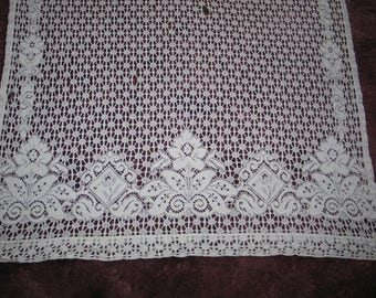 Delicate Antique Bobbin Lace Panel - Hand Made Lace-Curtain Panel-71 by 41 inches #2