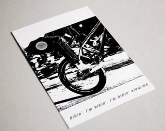 Frank Ocean Bikin Card/ Blonde / Greeting Cards/ Cards/ Frank Ocean