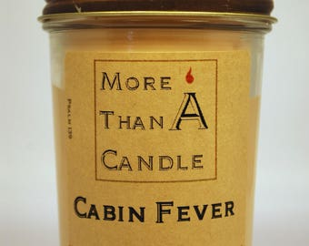 8 oz Cabin Fever Soy Candle