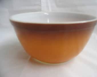 Pyrex Brown Tan 1 1/2 Quart Bowl Old Orchard Nesting Bowl Vintage 1970's