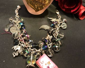 Charm Bracelet  Pink  Crystals  Charms Gifts Classic