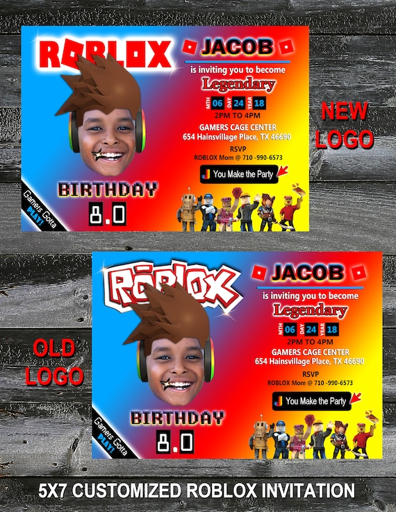 Highlights From Zions Roblox Birthday Party Design Addict Mom More Information Printable Personalized Invitation Red And Teal