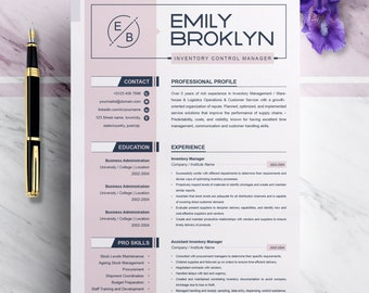 Modern and Creative Resume Template | Modern & Professional Resume Template for Word | CV Resume + Cover Letter | 3 Pages Pack