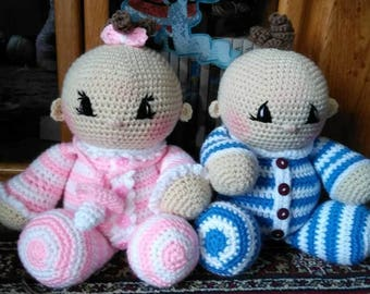 Crochet Twin Amigurumi Baby Doll Pattern Only
