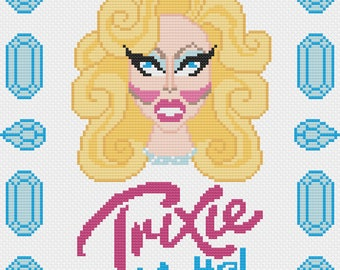 Trixie Mattel Cross Stitch Pattern