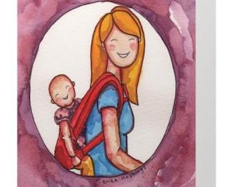 Baby Wearing Greeting Card