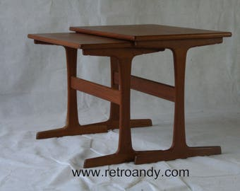 A pair of MCM Danish  nesting tables