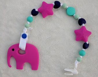 Silicone Teething Pacifier Toy - Silicone Beads - Teether - Teething Toy