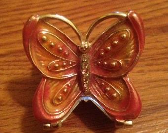Butterfly Monet Trinket Box Vintage jewelry box