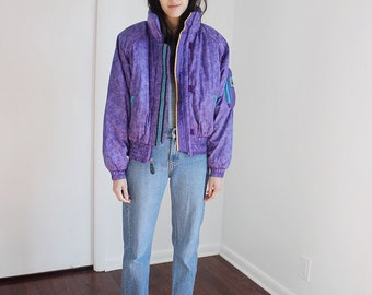Vintage 90s Purple Puff Jacket XS-S