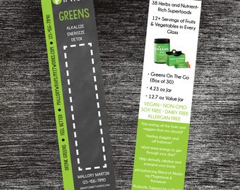 It Works! Greens On The Go Sample Cards Customized Digital File ONLY