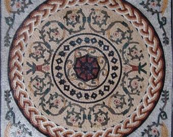 Roman Geometric Mosaic - Cypress II