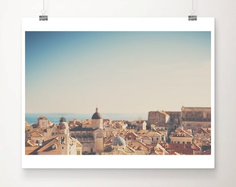 Dubrovnik photograph red roof photograph travel photography Dubrovnik print Croatia photograph travel print church photograph