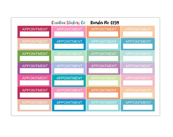 Appointment Planner Stickers, Matte Glossy, Sticker Sale – 0739