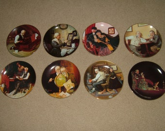 Norman Rockwell Golden Moments 8 Plate Set