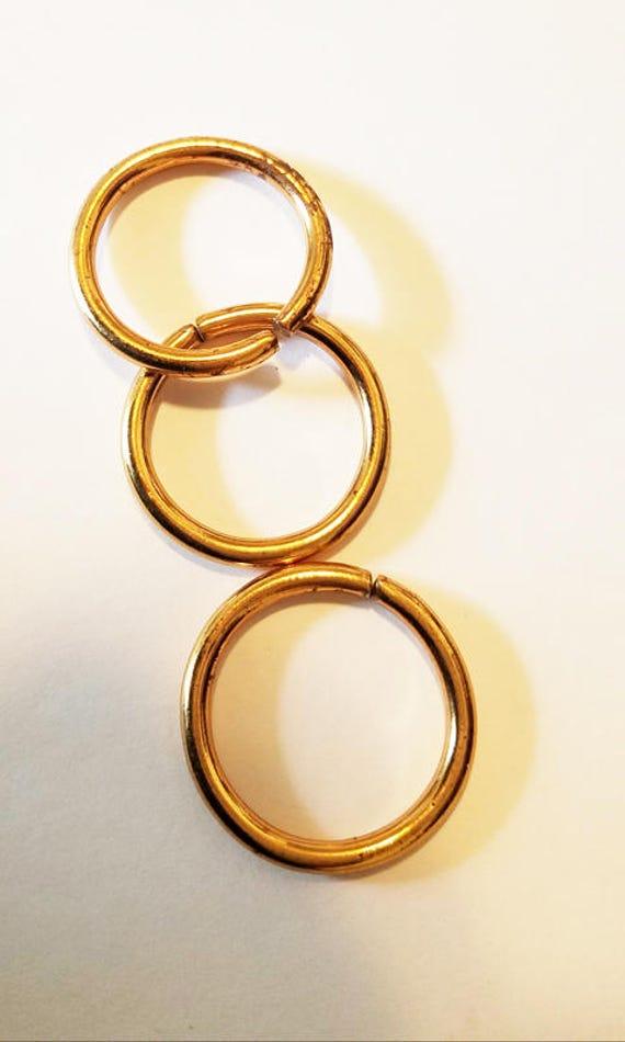 2 vintage brass metal jumprings hoops 30 mm jump rings hoop jewelry supplies findings