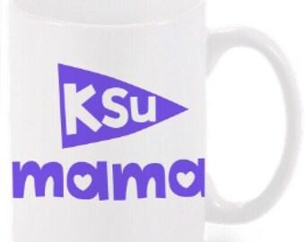 K State Mothers Day Mug-Coffee-Tea-College mug-K State mug-Kitchen-Mug Packaging-Custom Mug-Personalized-Custom-Graduation Gift