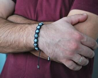 Jasper Bracelet , Mens bracelet , Healing bracelet , Beaded bracelet , Boyfriend gift , For him , Mens gift