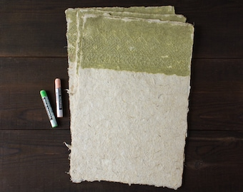 Lace paper Decorative paper Handmade paper Hemp paper Lace wedding card making Art paper Deckle edge paper (#21gl)