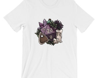 Witchy D20 Short-Sleeve Unisex T-Shirt - D&D Tabletop Gaming