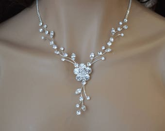 "Set ""Florance"",Rhinestone Jewelry Set, Crystal Wedding Necklace Set, bridal jewelry set, wedding jewelry set, bridesmaid jewelry set"