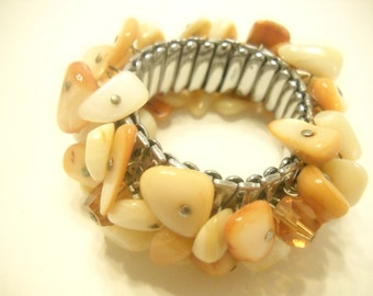 MOTHER OF PEARL Stretch Bracelet (7898)