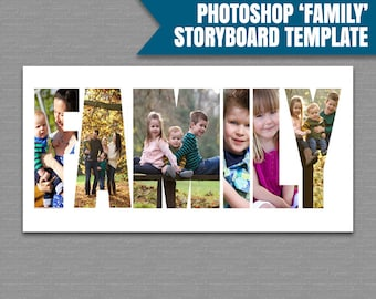 Photography Template, Photoshop Family Storyboard Template, marketing photographer's psd files, storyboard family word photoshop, instant