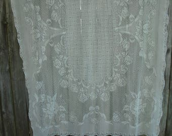 ON SALE ***205 T Ivory Lace Tablecloth, Polyester Lace,  Shabby Chic, Cottage Chic