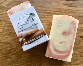 Sandalwood Soap, Sandalwood, Clay soap, Organic, Vegan, Soap, Palm free soap, Salt soap