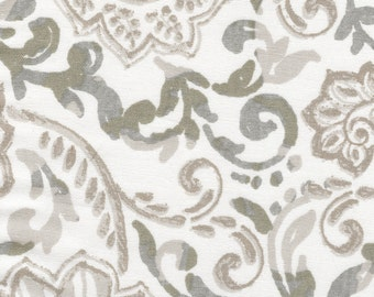 Tailored Valance Shannon Ecru Floral Paisley