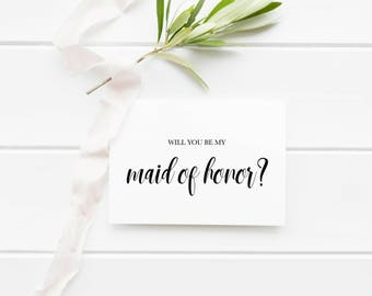 Will You Be My Maid Of Honor Invitation Printable