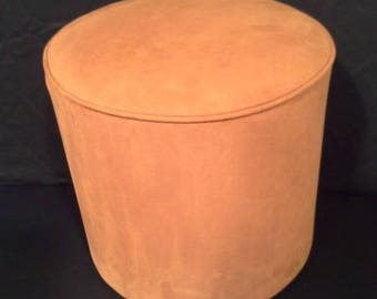 Fabric Ottoman chamoisé 3034 light brown suede color