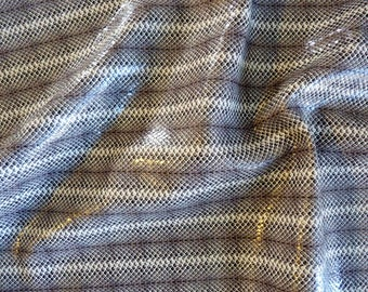 """Leather 8"""" X 10""""  Grey & Brown Embossed Snakeskin with Subtle Shimmer"""