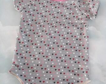 Little jersey heart baby Bodysuit - size 3 months