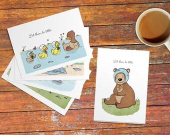Bonnet Critters - Sweet As April featured postcard prints