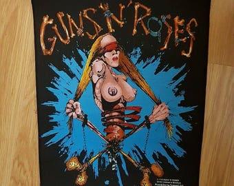 guns n ' roses 1992 vintage back patch