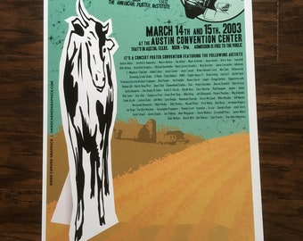 Flatstock 2 Cow poster Hand Carved Graphics signed
