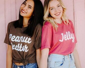 Best Friends Peanut Butter & Jelly Tees / bff shirts / big little gift / greek sorority t shirts