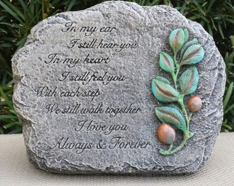 Memorial Stone - Handmade and Hand Painted Concrete Garden Statue